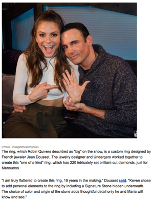 """Maria Menounos Engaged To Keven Undergaro After Surprise On-Air Proposal"", HNGN"